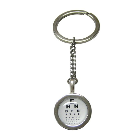 Kiola Designs Other - Bordered Round Optometrist Design Pendant Keychain